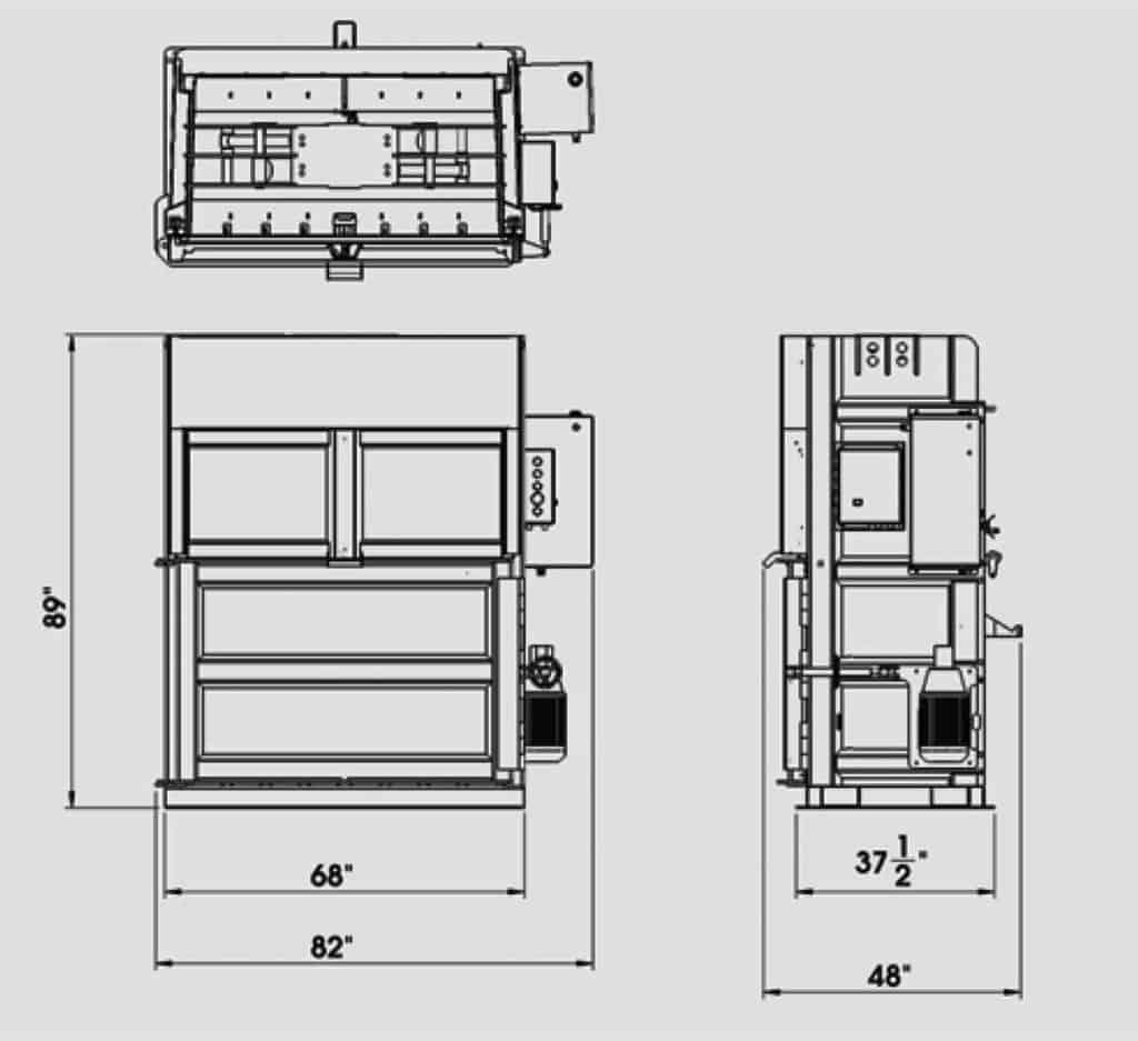 Plan technique - Presse verticale - IBV1020 - Industek