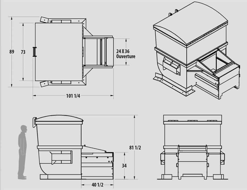 Plan technique : Fiche technique - Mini compacteur intégré - MIK6 - Industek