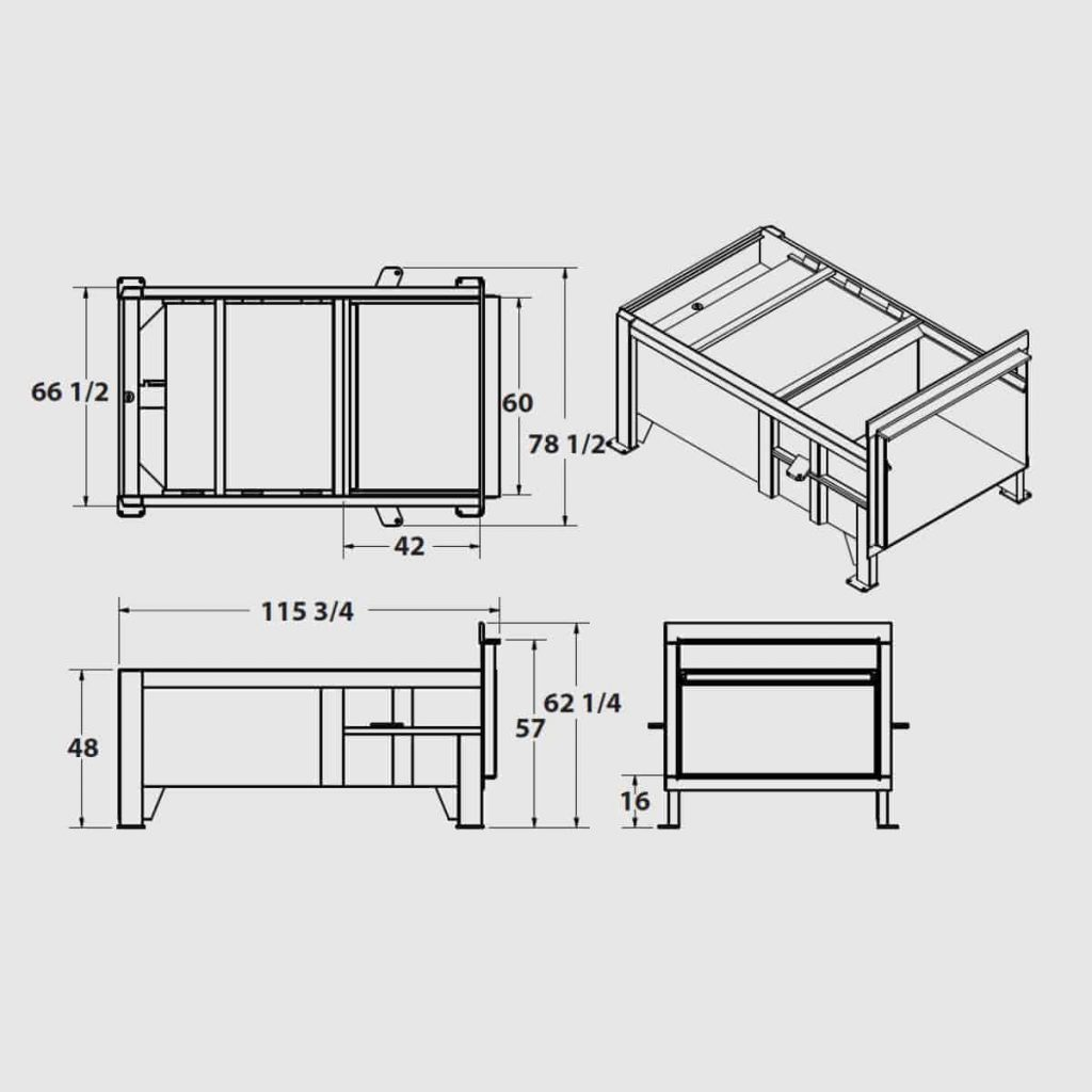 Plan technique compacteur stationnaire FK 2.0 - Industek